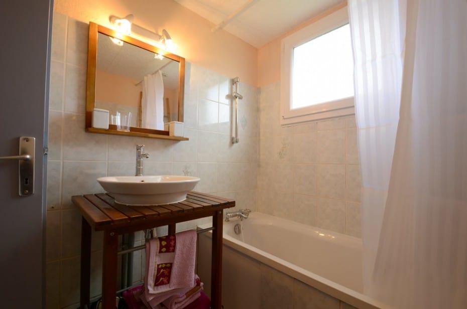 Salle de bain du gîte Cosy
