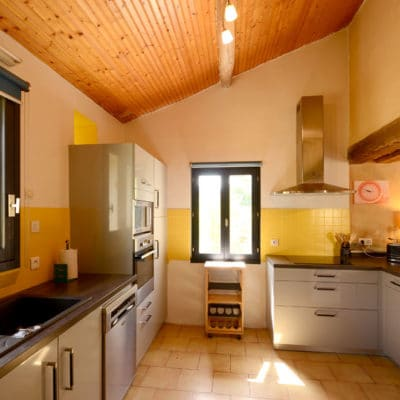 Fully equipped kitchen in a charming gite