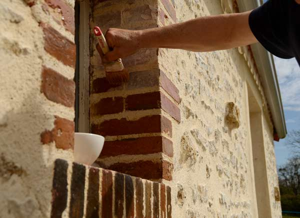 Linseed oil to bring out the natural colors of the brick